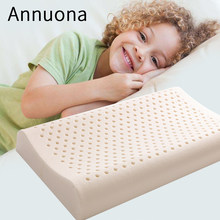 Annuona Kids Memory Latex Orthopedic Pillow Bedding Bed Pillows Exclusive to Children Child Kid Natural Latex Home Textiles(China)