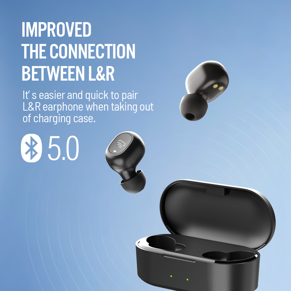 Image 2 - Dudios Zeus TWS Earbuds Bluetooth 5.0 Wireless Earphone Stereo in Ear Mini Earbuds 4Hrs Playtime Auto Pairing One Button Control-in Bluetooth Earphones & Headphones from Consumer Electronics