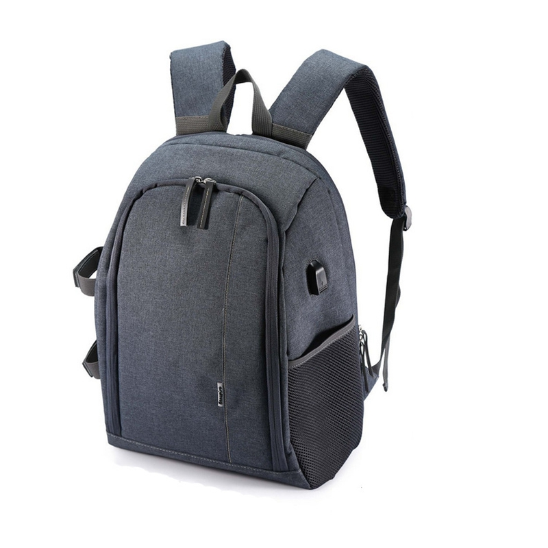 GTF SLR DSLR Camera Backpack USB Charge Multi-function Waterproof Photography Bag Unisex Outdoor Travel Bag for Camera caden m3 outdoor travel nylon shoulder bag for canon slr
