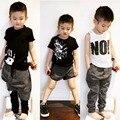 2017 verano NUNUNU NUEVA LLEGADA NIÑOS pantalón NEGRO T BEBÉ ROPA niños ROPA conjuntos VESTIDOS VETEMENT enfant bebe garcon