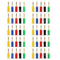 50Pcs Mini 2mm Copper Banana Plug Jack For Speaker Amplifier Gold Plated Binding Post Test Probes