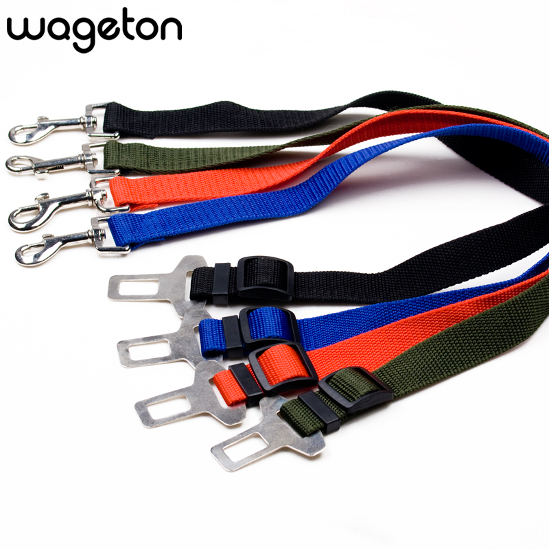 Adjustable Dog Cat Pet Car Safety Seat Belt Collars - 4 Color Travel Outdoor Walking Playing Lead Restraint Harness