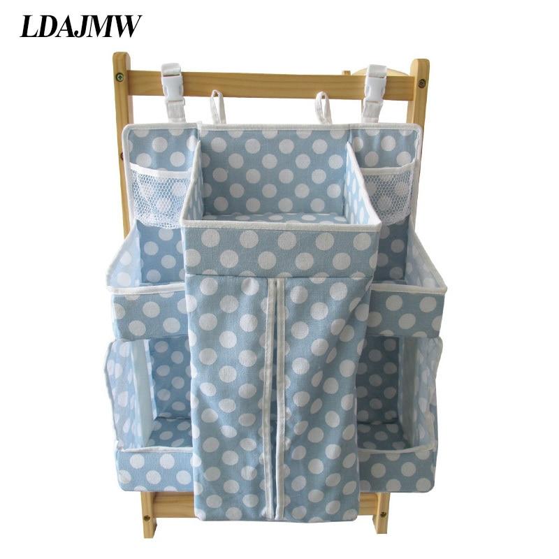 LDAJMW grande capacité bébé lit stockage sac suspendu jouet poche chevet organisateur infantile berceau literie
