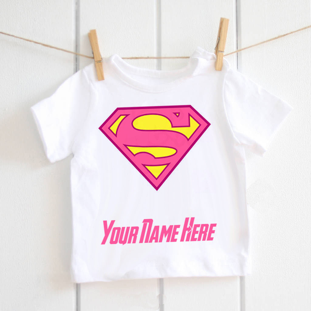 018f4a0b Supergirl baby Tshirt personalised Tees super hero marvel Cute Girl kids  Pink T-Shirt Printed Baby Boys Active T Shirt ETM-R2088