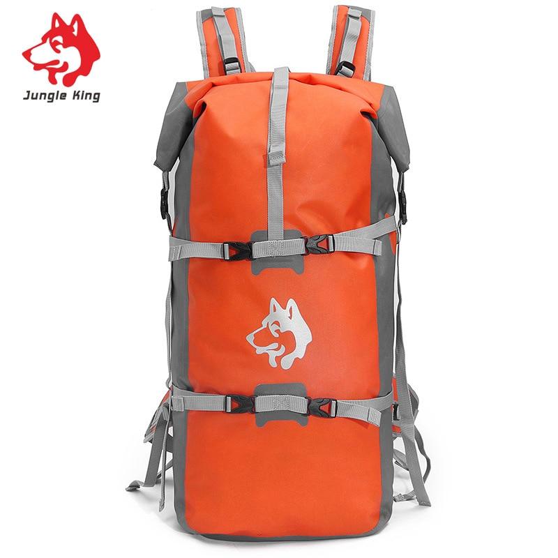 New Large Capacity Outdoor River Trekking Rafting Backpack Men And Women Waterproof Upstream Bag A5249 gykz new large capacity 40l outdoor tourist backpack women