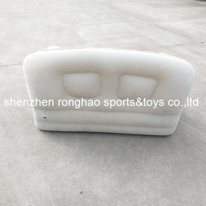 Image 4 - New Design Flocked PVC Inflatable Living Sofa Lounge Air Chair With Cup Holder Indoor Outdoor Double Seat Person Sofas