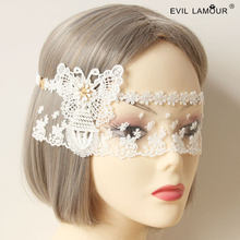 Prinses zoete lolita masker De koningin van Witte kroon Frontale veils veil dance party bars nachtclubs decoratie MJ-16(China)