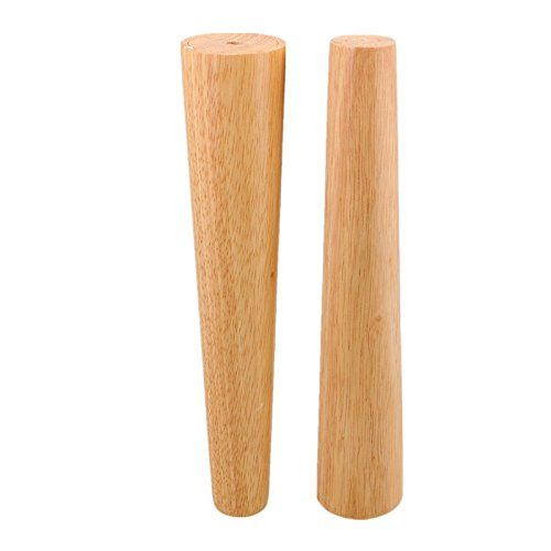 Natural Wood Reliable 300x58x38mm Wood Furniture Leg Cone Shaped Wooden Feet for Cabinets Soft Table Set of 4