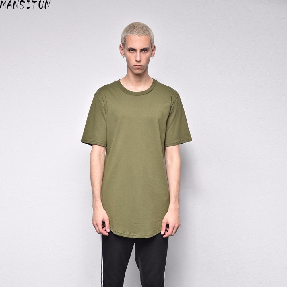 Man Si Tun Fashion Summer Men Extended Hip Hop T shirt Oversized Tyga Kpop Swag Clothes Men's Casual FOG Streetwear Camisetas