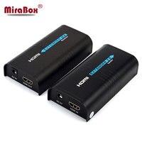 Mirabox HDMI удлинитель по CAT5 RJ45 Поддержка 1080 P 120 м каскад 253 RX Over IP Tup UTP как HDMI сплиттер (2 пары)