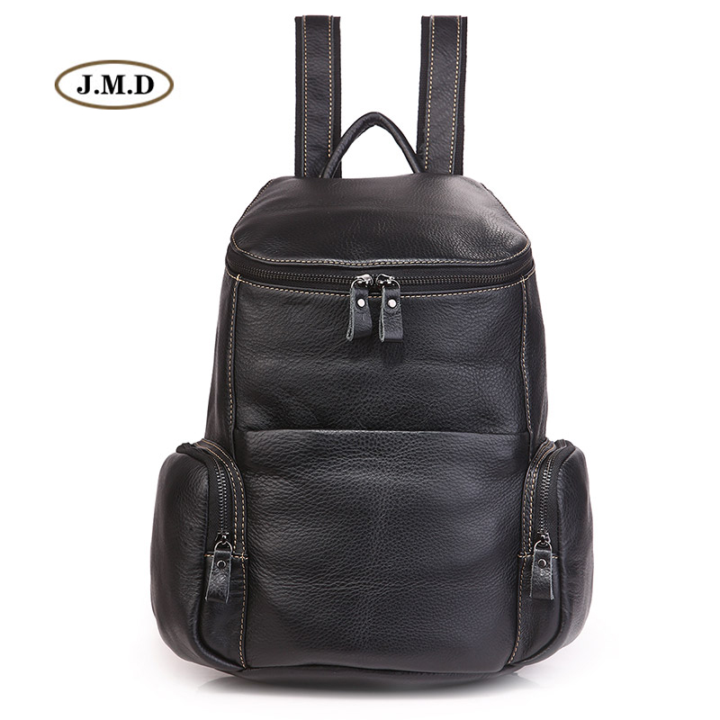 J.M.D Fashion Brand Genuine Leather High Quality School bag for College Student Backpack Book Rucksack Causal Travel Bag 7336A men original leather fashion travel university college school book bag designer male backpack daypack student laptop bag 9950