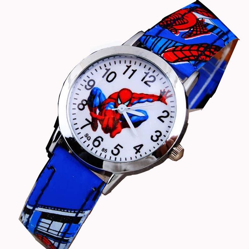 Fashion Cute Cartoon Children Watches For Boys Kids Quartz Cool Sport Strap Leather Wristwatch Gifts Clock Relojes
