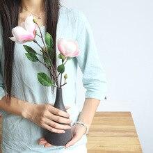 2pcs /lot simulation single branch silk magnolia flower home background wedding decoration fake rayon