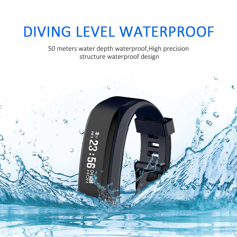 2017 New Smart Bracelet IP68 Waterproof Wristband Fitness Tracker Android Heart rate Smartband PK xiaomi mi