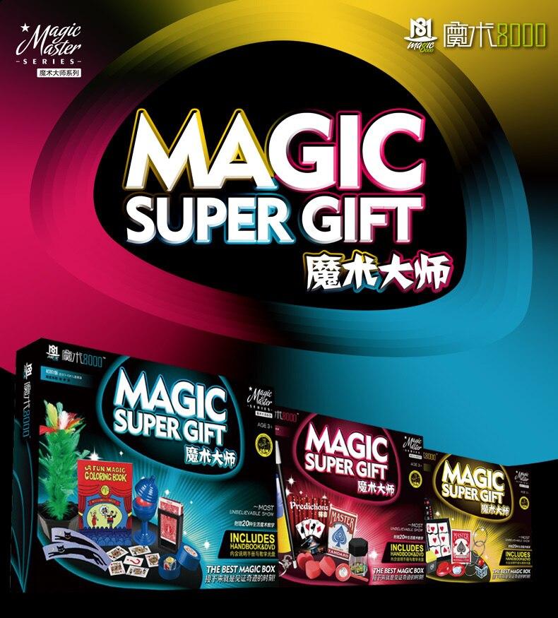 Haute qualité tours de magie accessoires cadeau ensemble pour enfants gros plan scène magique classique jouets éducatifs pour les enfants
