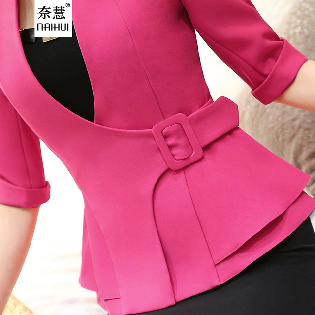 527fae3093 Fashion Work Wear Jacket Half Sleeve V neck Coat Blazer Feminino Girl plus  size women clothing ladies Vogue casual office top-in Blazers from Women's  ...