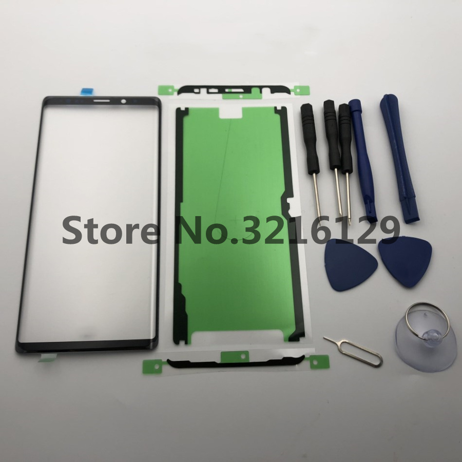 Front Outer Glass Lens Cover Replacement Parts For Samsung Galaxy Note 9 N960 S8 S9 S10 EDGE Plus NOTE 8 Touch Screen+adhesive