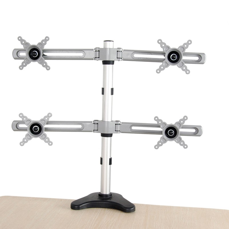 все цены на DLB105 Desktop Quad Screen Monitor Mount Holder Multi LCD Computer Mount Rotating Screen Mount Lift Base Monitor Arms онлайн