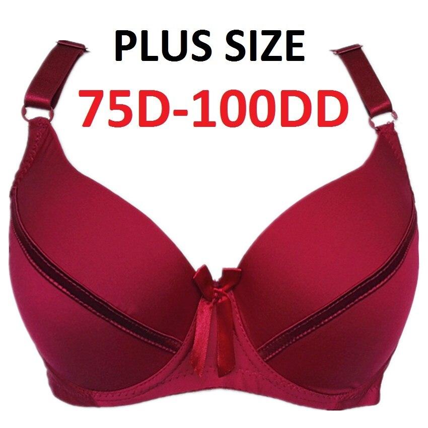 Íntimos das Mulheres de alta Qualidade Essencial Suave Empurrar Para cima Underwire Cobertura Completa Sutiã T-shirt 34D-100DD copos Mais Tamanhos H272