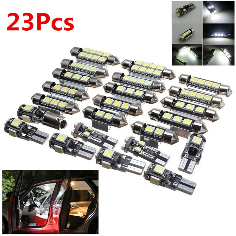 23 pces carro led interior luzes lampada lampadas kit para bmw x5 e53 2000 2006 branco