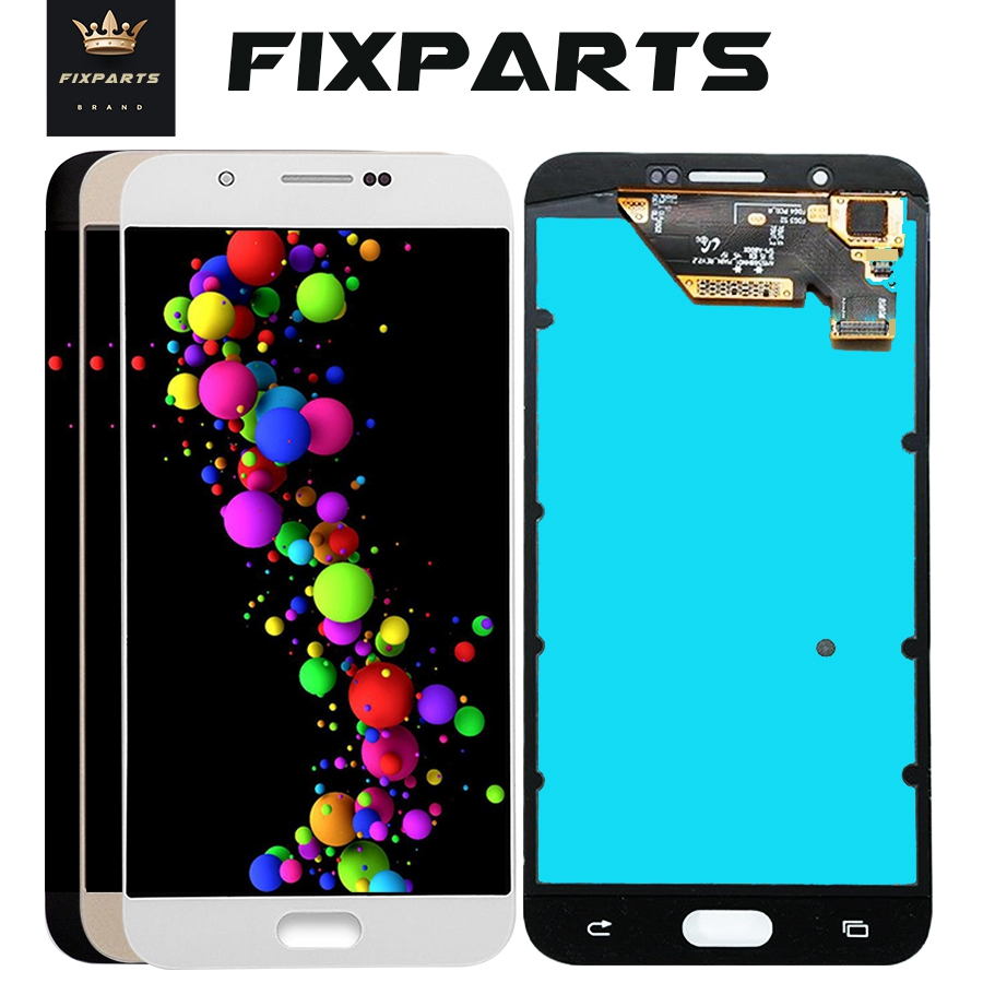100% Tested AMOLED LCD For <font><b>Samsung</b></font> Galaxy A8 A800 <font><b>A8000</b></font> A800F Phone LCDs Display Touch Screen Digitizer Sensor Replacement image