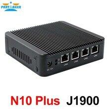 Причастником безвентиляторный Quad Core J1900 Mini PC Netwrok сервер 4 * Intel Gigabit LAN Порты и разъёмы Поддержка 3 г/4 г