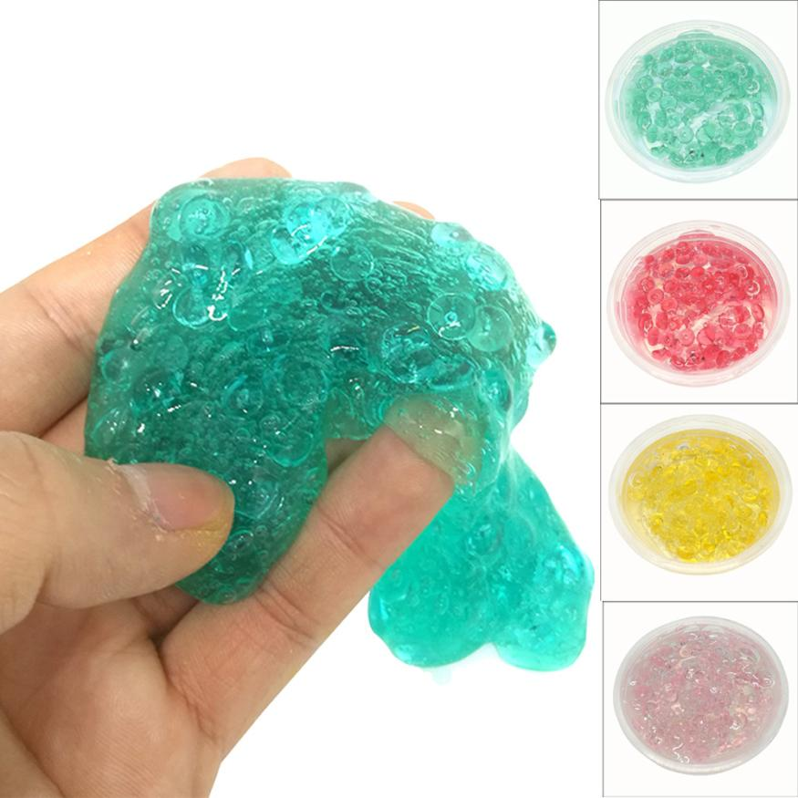 CHAMSGEND toy Plasticine Crystal Rice Grain Slime Putty Clay Toy 60ml Scented Stress Relief Kids plasticine toys AP5