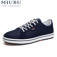 2019 MIUBU New Spring Summer Mans Style Shoes Fashion Students Lightness Mesh and Leather Youth Leisure Free Shipping