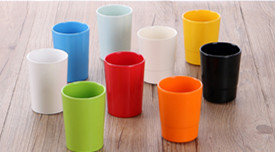 Neue Ankunft! A5 ebene Melamin Bunte plastikbecher Einfache Tragbare stil viele farben zu wählen 8,1