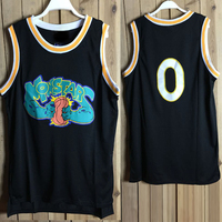 Men Basketball Jersey Space Jam OLDSCHOOL #0 Basketball Shirt Cartoon Sport Vest Embroidery Jersey Basketball Monstars jerseys