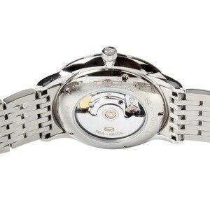 Image 4 - Seagull 10mm Dünne Anti Glare Gewölbtem Sapphire Kristall Römischen Ziffern Ausstellung Zurück Automatische männer Kleid Uhr 816,519