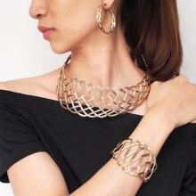 168768e24e18 MANILAI declaración Vintage gargantillas collares conjuntos indio conjunto  de joyas de collar brazalete pendientes conjuntos par.