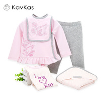 5pcs/Set Baby Girl Clothes Set Cotton Winter Kids Newborn Gift Toddler Girl Christmas Set Outfits Infant Girl Bodysuit Top Pant