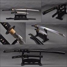Vintage Japanischen Samurai Schwerter Set High Carbon Stahl Klinge Katana & High Carbon Stahl Tanto Full Tang Sharp Japanische Messer