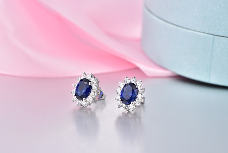 luxury wedding earrings for brides with crystal NE89300L (17)