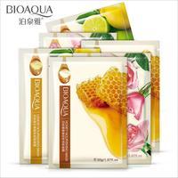 BIOAQUA Brand Natural Ingredients Facial Mask Shrink Pores Moisturizing Whitening Oil control Face Mask Skin Care 100Pcs