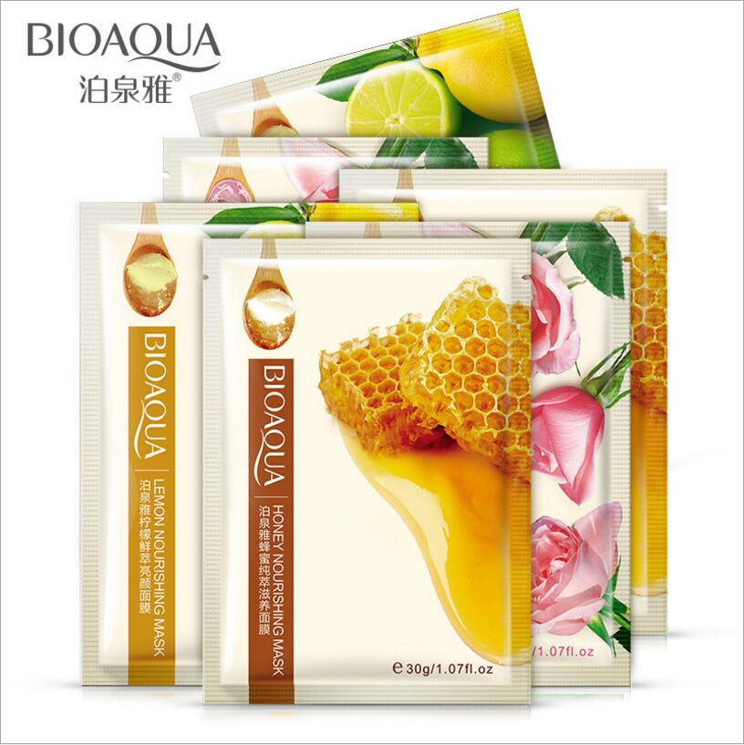 BIOAQUA Brand Natural Ingredients Facial Mask Shrink Pores Moisturizing Whitening Oil-control Face Mask Skin Care 100Pcs недорого