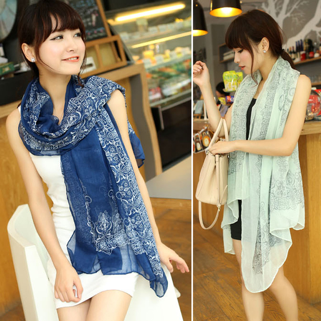 Fashion  sun cape fluid beach air conditioning silk scarf spring and autumn female ultra long scarf