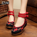 5cm Chinese embroidery women shoes pumps blossom leisure wedge heels plum zapatos mujer rihanna creepers superstar shoes