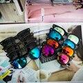 2017 8 Colores UV400 Gafas de Sol de La Vendimia para Las Mujeres de Los Hombres Diseñador de la Marca Femenina Masculina Gafas de Sol de Las Mujeres Gafas de los hombres famosa Lujo