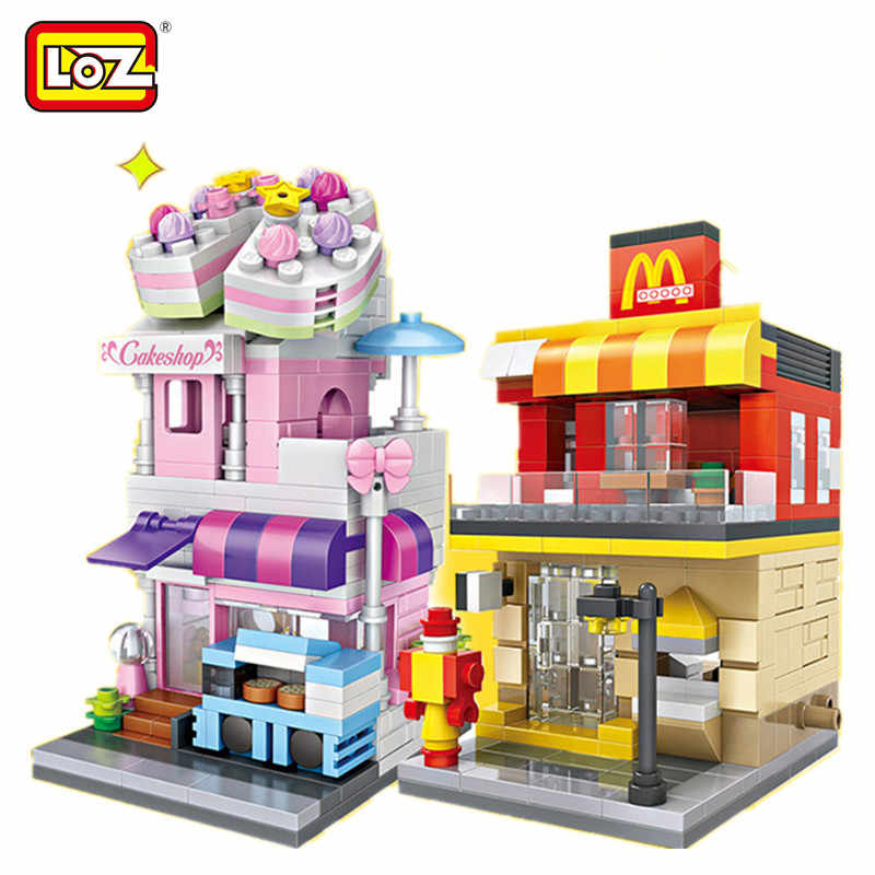Mini Street Blocks for Kids and Adults,3D Architecture Block Building Set DIY Bricks Toy for Intelligence Education Blocks Building Toys