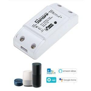 Image 1 - Sonoff בסיסי Wifi מתג DIY אלחוטי מרחוק Domotica אור חכם בית אוטומציה ממסר מודול בקר עבודה עם Alexa