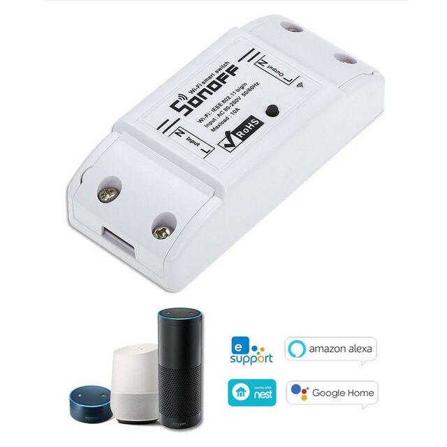 Sonoff בסיסי Wifi מתג DIY אלחוטי מרחוק Domotica אור חכם בית אוטומציה ממסר מודול בקר עבודה עם Alexa