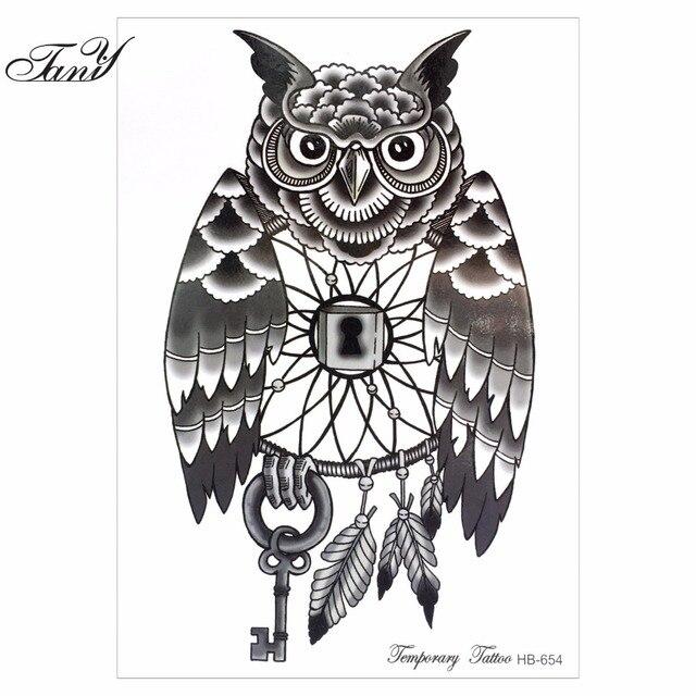 New Simple Desain Hitam Dan Putih Owl 21x15 Cm Berukuran Sexy Keren