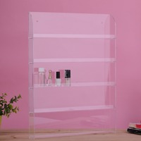 Removable 5 Layers Rack Acrylic Clear Nail Polish Cosmetic Display Stand Holder Wall Mounted Rack About 40 To 50 Bottles Storage
