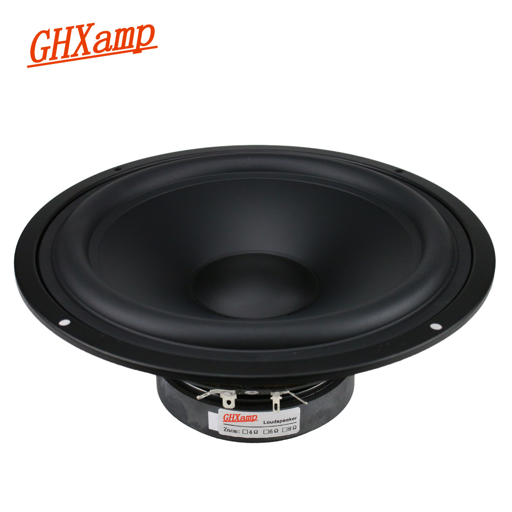 GHXAMP 8 Inch 218MM Speaker Unit Midrange Bass 8ohm 140W Home Theater Speaker Matte Coated Paper Tray HIFI DIY 45Hz 1pc 2pcs kasun qa 8100 8inch woofer speaker driver unit paper cone 8ohm 140w dia 218mm fs 45hz