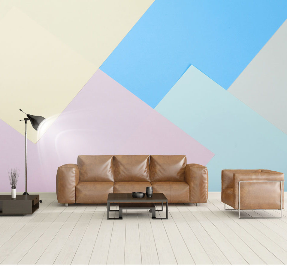 Large Colorful Plaid Geometry Wallpaper Mural 3d Wall Photo Mural for Living Room Sofa Background 3d Wall paper Murals custom 3d photo wallpaper mural nordic cartoon animals forests 3d background murals wall paper for chirdlen s room wall paper