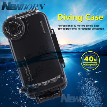 For iPhone 7& 8 case waterproof 40m/130ft Underwater Camera Housing Photo Taking Waterproof Diving Case for iPhone 7/8