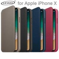 Officiel D'origine Portefeuille Flip Étui En Cuir pour iPhone X Téléphone Avec LE LOGO Arrière Fente Pour Carte de Couverture Avec la Boîte de Détail