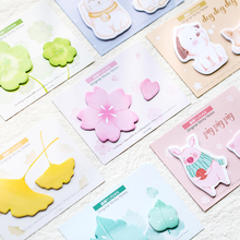 Buy 4pcs Sunny day sticky note Cute Animal Flower Clover Rainbow color memo pad Post notepad Stationery Office School supplies A6466 directly from merchant!